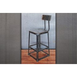 METAL STOOL WITH BACK