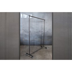 TALL RECLAIMED STEEL ROLLING CLOTHING RACK