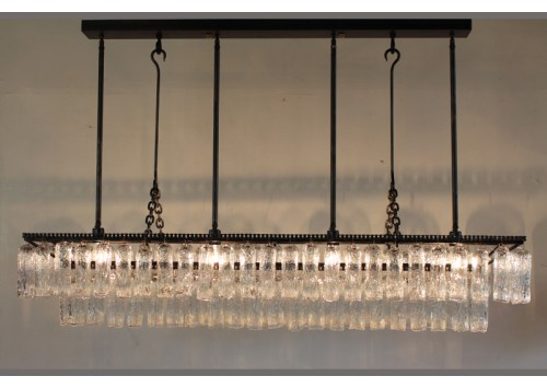 JASON WEIN RECTANGLE TREE BARK CRYSTAL CHANDELIER