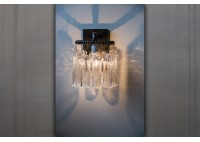 JASON WEIN TREE BARK CRYSTAL SCONCE - RECTANGLE BACKPLATE