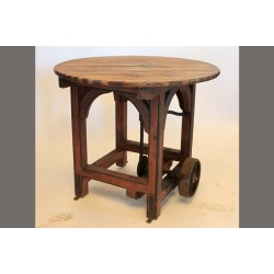 WOODEN VINTAGE MACHINE TABLE
