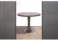 BAR HEIGHT PEDESTAL TABLE - STEEL TOP