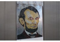 """ABE"" - RECYCLED CAN ARTWORK"