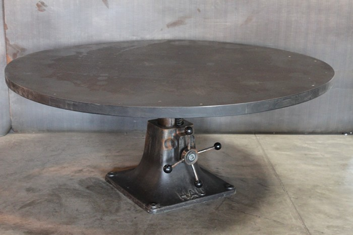 Round Steel Industrial Table