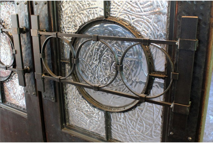New - Doors with Hand Blown Glass