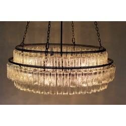 JASON WEIN LARGE 3-TIER TREE BARK CRYSTAL CHANDELIER