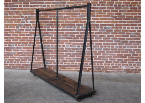 REPURPOSED STEEL CLOTHING RACK
