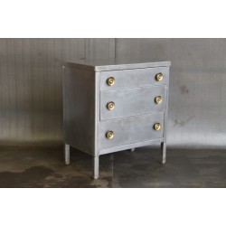 VINTAGE BRUSHED STEEL DRESSER