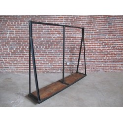 JASON WEIN REPURPOSED STEEL CLOTHING RACK
