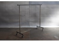 JASON WEIN RECLAIMED STEEL ROLLING CLOTHING RACK