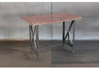 RECLAIMED BLEACHER WOOD HIGH TABLE