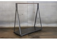 JASON WEIN RECLAIMED STEEL CLOTHING RACK