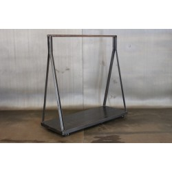 RECLAIMED STEEL CLOTHING RACK