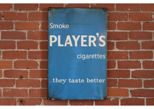 PLAYER'S CIGARETTES SIGN