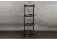 BASKET SHELVES ON CASTERS
