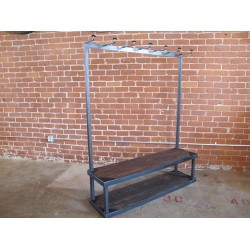 JASON WEIN STEEL AND WOOD CLOTHING RACK