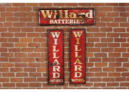 WILLARD'S BATTERIES SIGN
