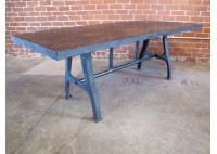 STEEL TABLE W/ VINTAGE LEGS