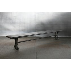 JASON WEIN RECLAIMED STEEL BENCH