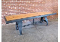RECLAIMED WOOD TABLE W/ VINTAGE LEGS