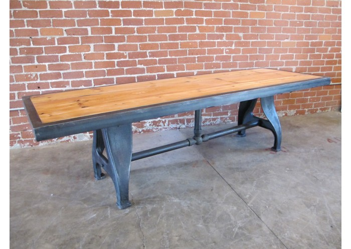 Perfect RECLAIMED WOOD TABLE W/ VINTAGE CAST LEGS
