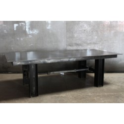 JASON WEIN RECLAIMED STEEL TABLE W/ TURNBUCKLE BASE