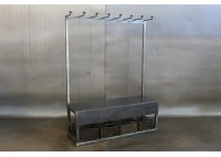 JASON WEIN SCHOOL HOUSE  RACK - STEEL  W/ BENCH & BASKETS