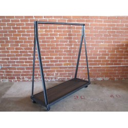 JASON WEIN CLOTHING RACK W/ WOOD