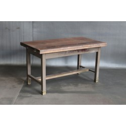 DESK W/ RECLAIMED WOOD TOP