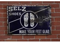 VINTAGE SELZ SHOES SIGN