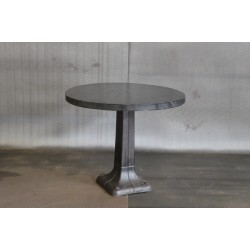 STEEL TABLE W/ VINTAGE BASE