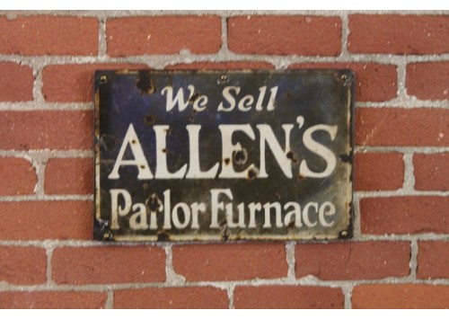 ALLEN'S PARLOR FURNACE SIGN
