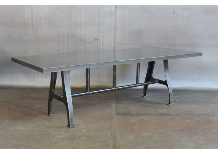 Lovely STEEL TABLE W/ VINTAGE LEGS