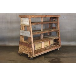 RECLAIMED WOOD A FRAME SHELVES