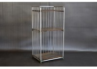 VINTAGE 3 TIER ALUMINUM SHELVES