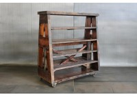 RECLAIMED BLEACHER WOOD AFRAME SHELVES