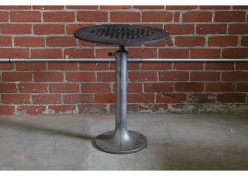 MANHOLE TABLE W/ VINTAGE BASE