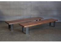 RECLAIMED BLEACHER WOOD BENCH