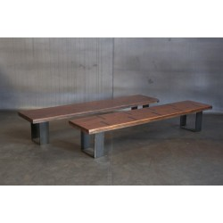 JASON WEIN RECLAIMED BLEACHER WOOD BENCH