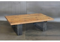 BLEACHER WOOD COFFEE TABLE