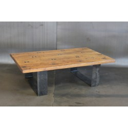JASON WEIN BLEACHER WOOD COFFEE TABLE