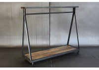 JASON WEIN A-FRAME CLOTHING RACK W/ TOP SHELF