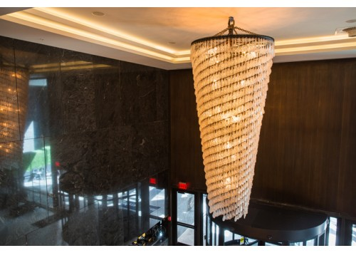 CASCADING SPRIAL CHANDELIER