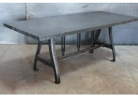 STEEL TABLE WITH EA MACHINE CO LEGS