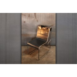 PATCHWORK CHAIR BLACK & GREY