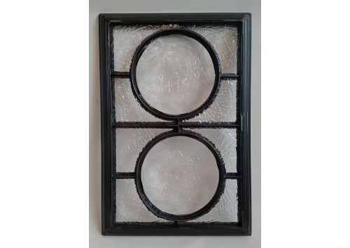 CUSTOM FRAMED RONDEL WINDOW