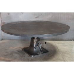 01.  ROUND STEEL ADJUSTABLE TABLE