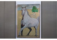 """THE MEADOW""  HORSE IN MEADOW - RECYCLED CAN ARTWORK"