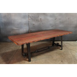 23.  WOOD TOPPED TURNBUCKLE TABLE